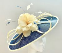 Navy Blue and Banana Mother of the Bride Hatinator 13103/SD432
